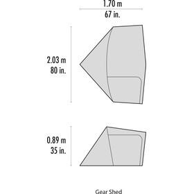 MSR Gear Shed V2 - Accesorios para tienda de campaña - gris/rojo
